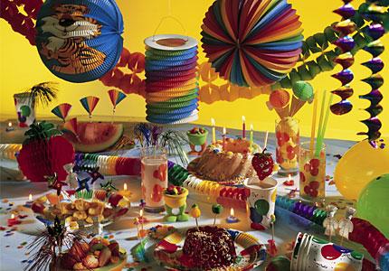 Farben dekore dekorationen f r feste partys von k gler for Partydekoration berlin